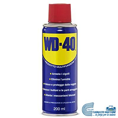 WD-40 Prodotto Multifunzione - Lubrificante Spray - 200 ml - cagnazzo macchine